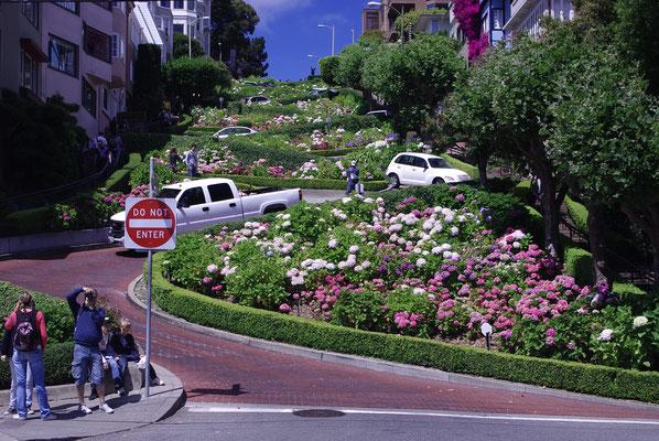 Lombard Street ! La rue la plus sinueuse du monde !