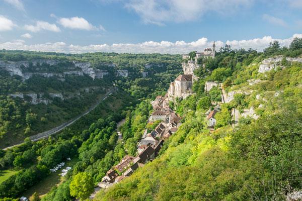 Vue splendide sur Rocamadour