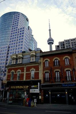 Vue depuis DownTon sur la CN Tower, Toronto - Copyright Trip85.com
