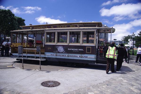 Le mythique tramway de San Francisco !