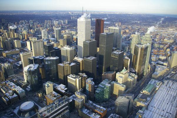 Vue depuis le resturant de la CN Tower !