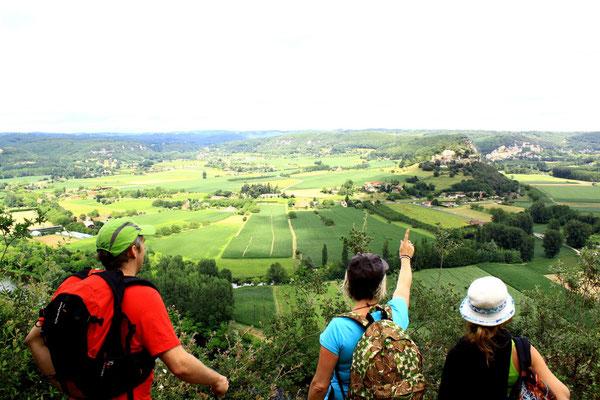 randonnée pédestre en vallée Dordogne © CG24