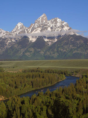Vue sur le Parc National du Grand Teton - By Jon Sullivan [Public domain], via Wikimedia Commons