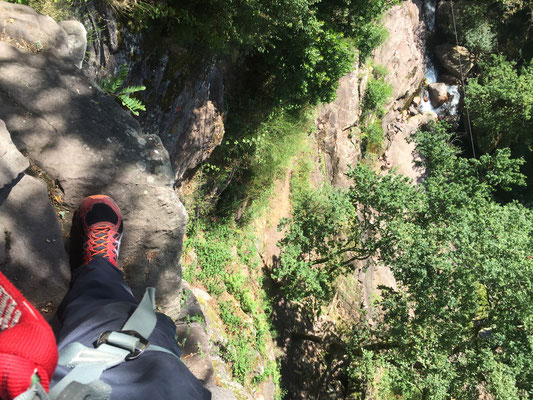 Au plus haut de la Via Ferrata !