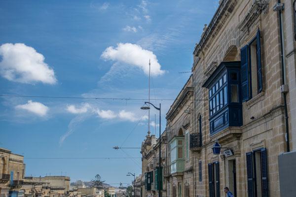 Le centre de Victoria, capitale de Gozo !