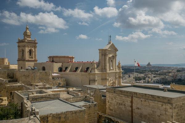 Vue sur la ciradelle de Victoria, la capitale de Gozo