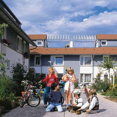 Wohnhof in Hybridbauweise