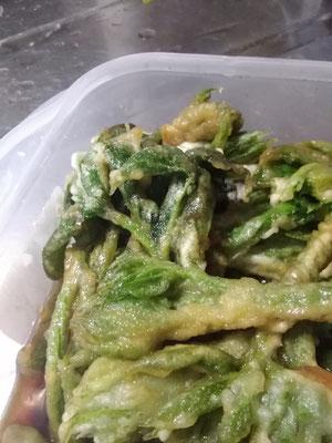 ヤマウドの芽の天ぷらの酢醤油づけ