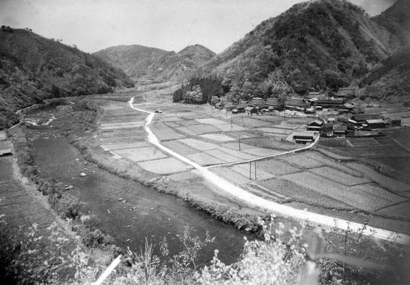 ダムに沈んだ集落、七原全体。