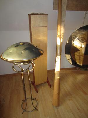 Instrumente Hang, Monochord, Didgerido, Gong