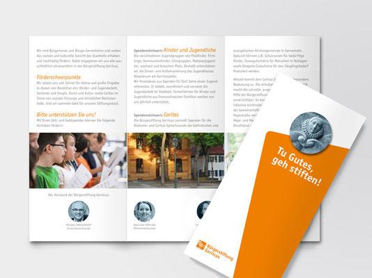 Image-Faltblatt der Bürgerstiftung Gerricus | ©Andrea Osche – www.a-osche.de