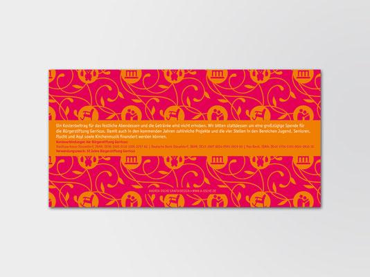 10 Jahre Bürgerstiftung Gerricus | Einladungskarte | Rückseite
