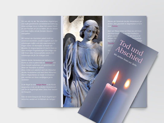 Info-Faltblatt zum Thema Beerdigung