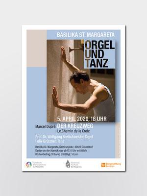 Kath. Kirchengemeinde St. Margareta, Düsseldorf | Veranstaltung »Orgel & Tanz«  (ausgefallen wegen Corona) | Plakat