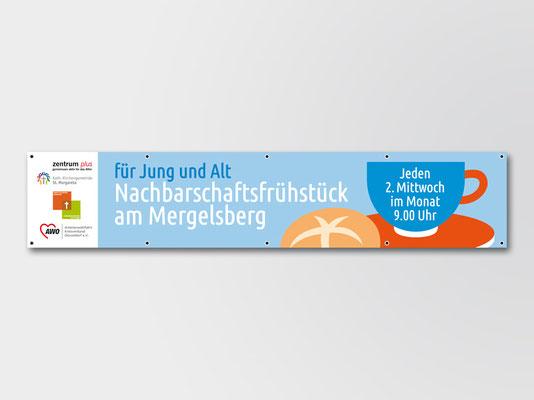 2018 | St. Margareta Düsseldorf-Gerresheim | Nachbarschaftsfrühstück | Banner 2 x 0,5 m