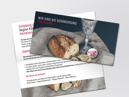 Maria 2.0 |Einladung zum Netzwerktreffen am 18. Januar 2020 in Köln | Abendmahl-Foto: Debbie Hudson auf unsplash.com