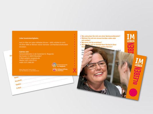 "Doppelkarte zum Ausfüllen | Projekt Nachbarschaftshilfe | Schwerpunkt ""Senioren & Hospiz"" der Bürgerstiftung Gerricus"