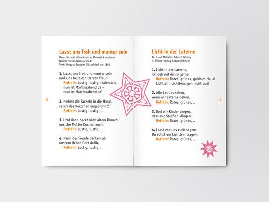 Bürgerstiftung Gerricus, Düsseldorf-Gerresheim | St-Martin-Liederheft | Doppelseite aus dem 16-seitigen Heft
