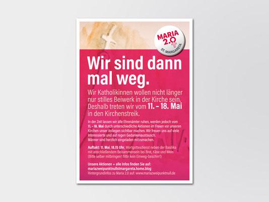 Maria 2.0 | Aktionswoche | Flyer | Kath. Kirchengemeinde St. Margareta, Düsseldorf-Gerresheim