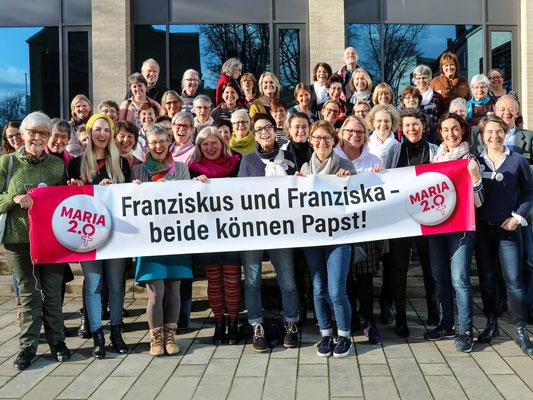Maria 2.0 | Spruchband | Netzwerktreffen in Köln am 18. Januar 2020