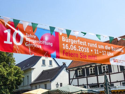 Bürgerstiftung Gerricus | 10-jähriges Jubiläum | Bürgerfest | Banner | 6 x 1 m