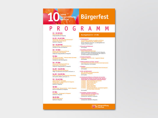 10-Jahre-Festveranstaltung | Aufsteller DIN-A1/A2