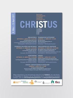 Ev. und kath. Kirchengemeinde Düsseldorf-Gerresheim | ökumenische Veranstaltungsreihe anlässlich des Christusjahres 2017 | Plakat