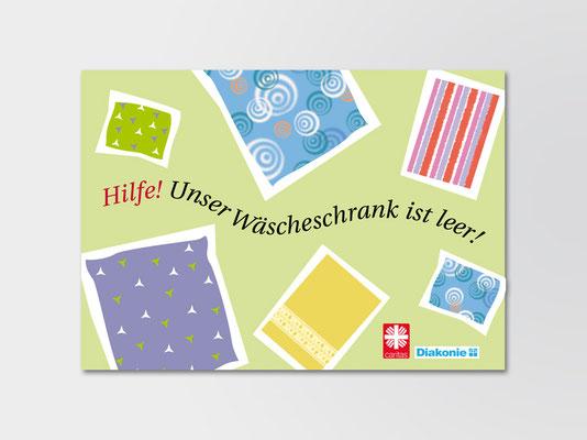 Postkarte für die Diakonie | Entwurf