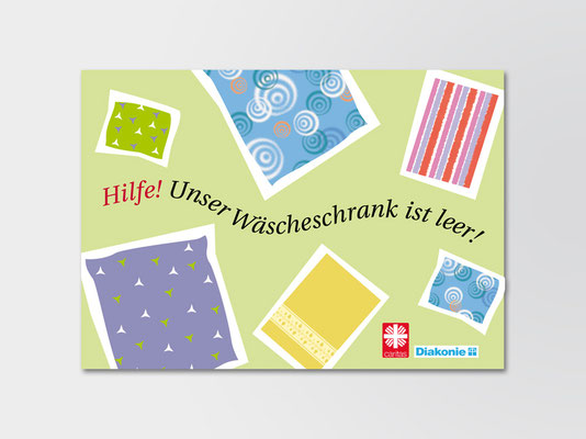 Postkarte für die Diakonie | Entwurf | ©Andrea Osche – www.a-osche.de