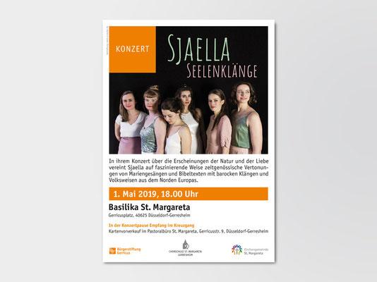 Bürgerstiftung Gerricus, Düsseldorf-Gerresheim | Plakat für ein Konzert der A-Cappella-Formation »Sjaella«