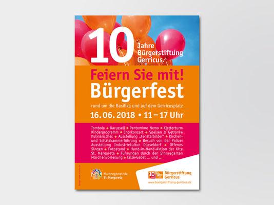Bürgerstiftung Gerricus | 10-jähriges Jubiläum | Bürgerfest | Veranstaltungsplakat