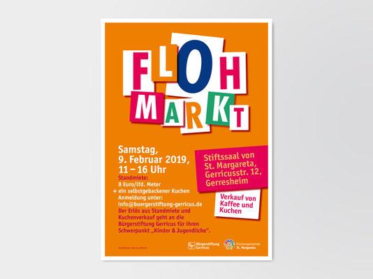 Bürgerstiftung Gerricus, Düsseldorf-Gerresheim | Flohmarkt | Veranstaltungsplakat