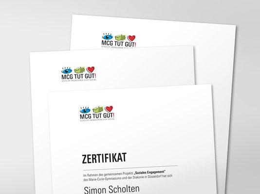 Gestaltung Zertifikat für Schüler