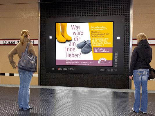 Veranstaltung am 19. November 2016   Infoscreen in der U-Bahnstation