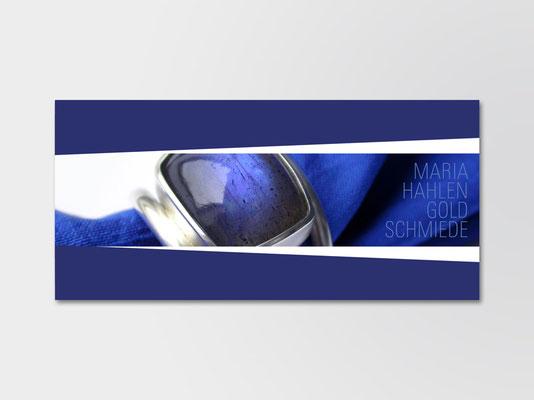 Postkarte für Kunden der Schmuckdesignerin Maria Hahlen