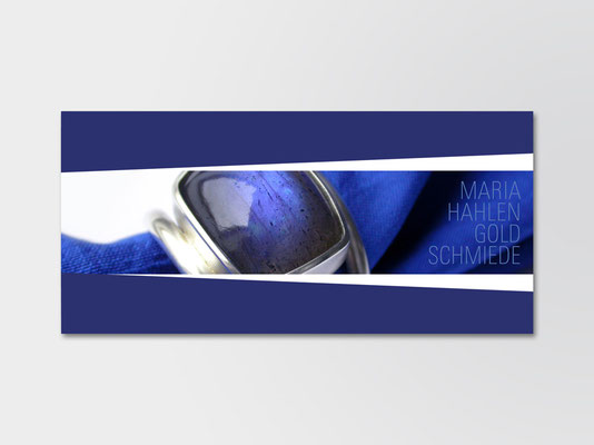 Postkarte für Kunden der Schmuckdesignerin Maria Hahlen | ©Andrea Osche – www.a-osche.de
