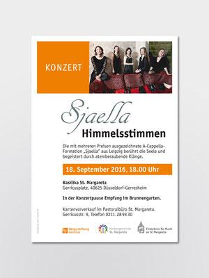 Bürgerstiftung Gerricus, Düsseldorf | Konzert »Sjaella« | Plakat