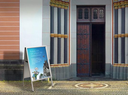 Bürgerstiftung Gerricus, Düsseldorf-Gerresheim | Gerresheimführer für Kinder | Ankündigungsplakat | ©Illustration: Timon Osche