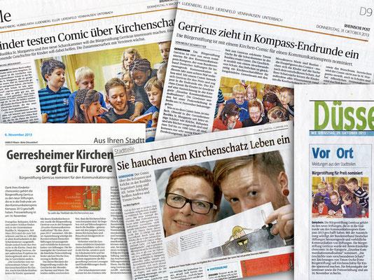 Bürgerstiftung Gerricus, Düsseldorf-Gerresheim | Broschüre für Kinder zum Kirchenschatz von St. Margareta | Pressestimmen
