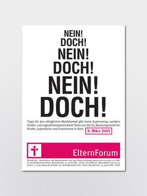 Ev. Kirchengemeinde Köln-Pesch | Veranstaltungsreihe »Elternforum« | eins von mehreren Plakatmotiven