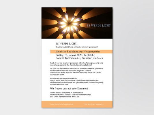 Versammlung »Synodaler Weg am 31. Januar 2020 | Einladung zu Wortgottesfeier und Komplet per Mail und sozialer Medien | Foto: Gerd Altmann auf pixabay.com
