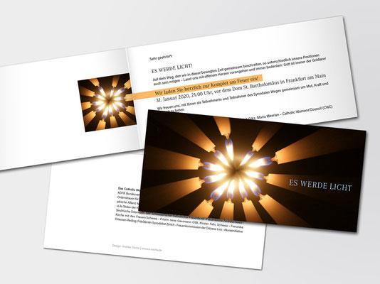 Versammlung »Synodaler Weg am 31. Januar 2020 | Einladungskarte zu Wortgottesfeier und Komplet | Foto: Gerd Altmann auf pixabay.com