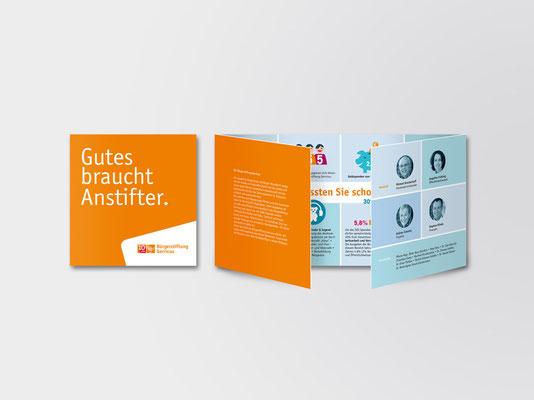 Bürgerstiftung Gerricus, Düsseldorf-Gerresheim | Image-Faltblatt | Titel und Ansicht nach erstmaligem Aufklappen