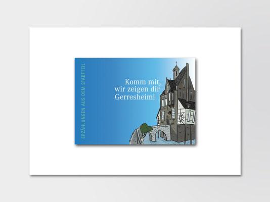 Stadtteilführer für Kinder »Komm mit, wir zeigen dir Gerresheim!« | Titel | Illustration: ©Timon Osche