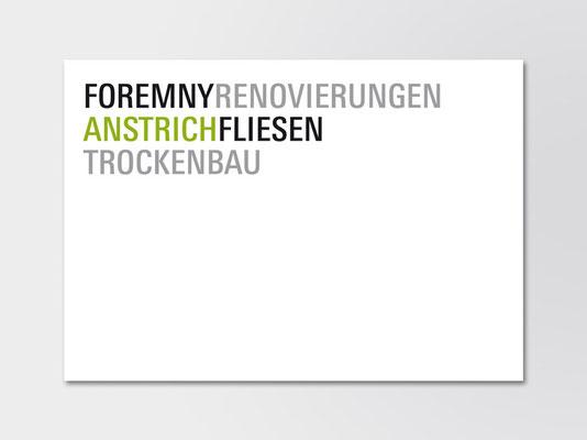 """Wortmarke """"Foremny Renovierungen"""""""