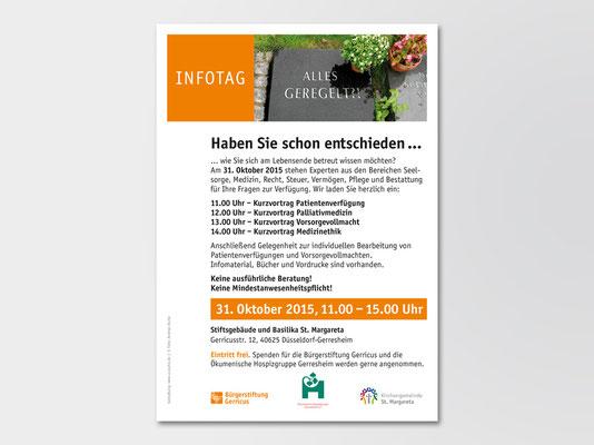 Bürgerstiftung Gerricus, Düsseldorf-Gerresheim | Seminar | Veranstaltungsplakat