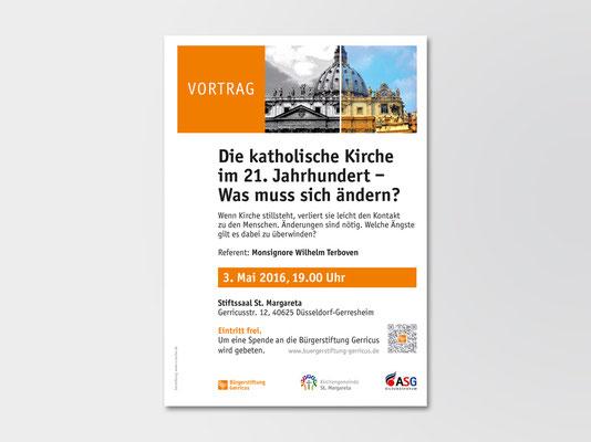 Bürgerstiftung Gerricus, Düsseldorf-Gerresheim | Vortrag | Veranstaltungsplakat