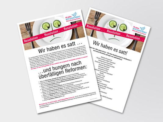 Netz gegen Armut, Düsseldorf | Resolution und Liste der Resolutionsträger | A1-Plakat