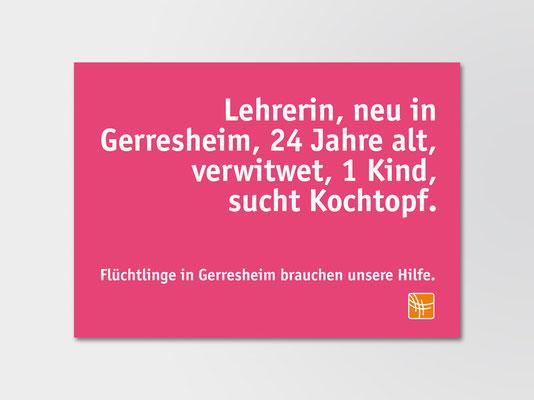 Postkarte der Bürgerstiftung Gerricus mit Spendenaufruf | ©Andrea Osche – www.a-osche.de