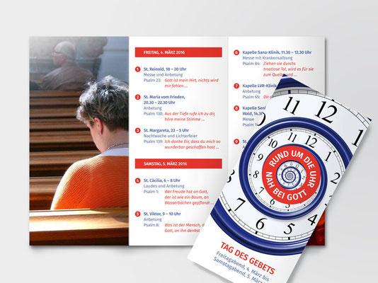 Faltblatt für die Kath. Kirchengemeinde St. Margareta, Düsseldorf-Gerresheim | ©Andrea Osche – www.a-osche.de